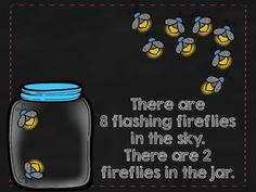 Ten Flashing Fireflies - great for counting and composing 10.