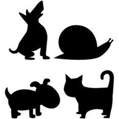 snail template, applique templates, animal silhouettes, animals silhouette
