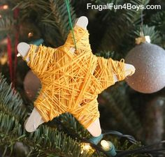 star ornament, stick christma, stars, christma idea, star christma