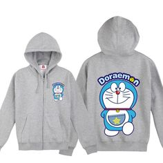 Doraemon the lovely Doraemon walking zip-up hoodie - Tshirtsky