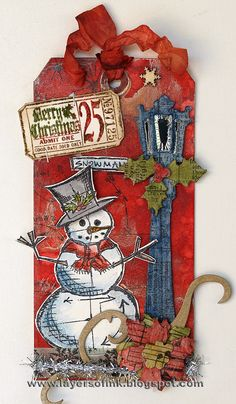 Tim Holtz Christmas Tag...Layers of Ink. Why doesn't someone do this in a similar stye for digital scrapping. I LOVE the layers!