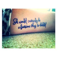 I would never ever, ever, ever do this but OHMYGOSH a pride and prejudice tattoo