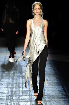 The metallic trend takes to the runway. #MetallicMadness