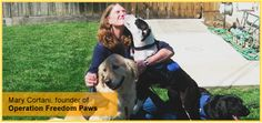 """Inspired by the """"Growing Smiles, Sharing Goodness"""" movement, we would like to take a moment to say thanks to some heroes that are bettering the world around them!  Mary started the organization Operation Freedom Paws back in 2010. An amazing effort helping both shelter dogs and war veterans with post-traumatic stress disorder (PTSD) reacclimatize to civilian life.  Read more at: http://www.turbana.com/blog/thanksgiving/"""