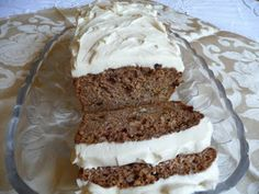 Carrot Cake Loaf - This loaf does not even need the frosting but is really decadent with it and looks pretty!