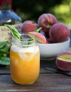 Try making these Peach-Basil Juleps with UV Peach Vodka