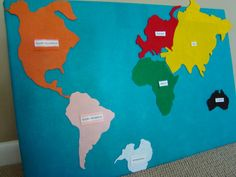 classroom, schools, homeschool preschool, felt contin, raccoons, raccoon school, world maps, contin map, felt map