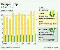 U.S. forecasts significant corn, soybean crop production for second straight year http://on.wsj.com/1ppKtHv