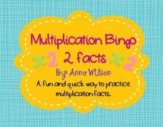 FREE Multiplication BINGO 2 facts