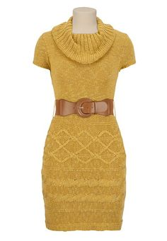 Belted Sweater Dress available at #Maurices