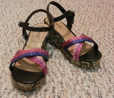 rhinestone sandals - Scrapbook.com - If you have old sandals that need a face lift, use Buckle Boutique rhinestone sheets to provide a quick DIY bling look.