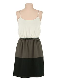Bow Belt Colorblock Tank Dress available at #Maurices