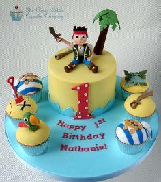 Jake and The Neverland Pirates Cake & Cupcakes