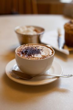 Delicious, hot coffee.