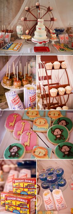 Vintage Circus Themed Birthday Party