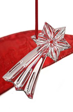 Baccarat Crystal Shooting Star Ornament
