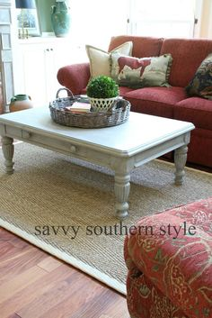 Savvy Southern Style~ A Coffee Table Makeover with a little help from Annie Sloan