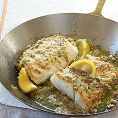 Roast Cod with Garlic Butter.