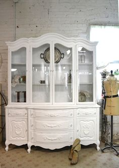 Painted Cottage Chic Shabby White Romantic by paintedcottages, $895.00