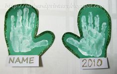 Handprint Mittens! The child would stick his/her hand in paint then place it on construction paper. Then it will have there handprint on it!