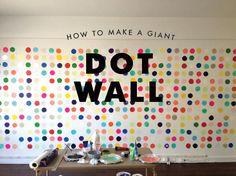 DIY: giant dot wall
