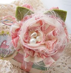pearl, fabric roses, flower pins, fabric flowers, paper, sweet gifts, bird nests, handmade flowers, diy projects