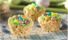 DIY: Robin's Nest and Surprise Egg Rice Krispie Treats!