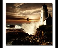 lighthouse and waves - Google Search