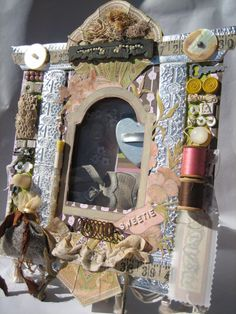 Shadow Box Assemblage Box Found Objects Shadow Box by hastypearl