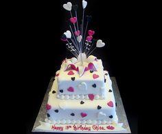 Teen sweetheart cake
