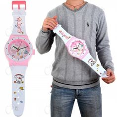 Likable Cartoon Patterned Watch Shaped Clock for House/ Room Decoration - Hello Kitty Pattern HHI-65891 at the Shopping Mall, $19.95   Discounted Price: $17.95 (USD)