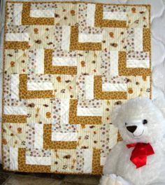 What's New in the Zoo a unique handmade baby quilt.