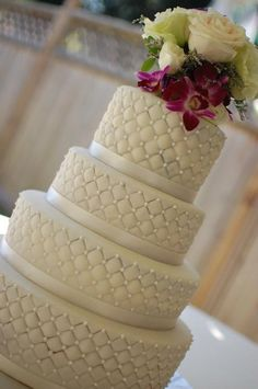 Wedding cake by The Sweet Flour  (3/14/2012)  View Cake Details Here: http://cakesdecor.com/cakes/9244