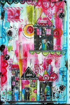 #papercraft #artjournaling Art Journal - Home Sweet Home