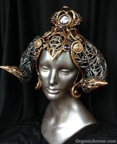 Karnaya horned #headdress http://organicarmor.com/custom-2/