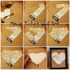 Movie Ticket Wall Art