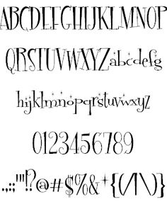 font with sparkles