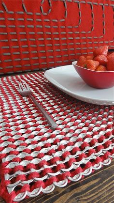 Meals will never be the same with this luxurious placemat. Stylish,glamorous and fun.    The crochet technique creates its amazing chain mail effect.