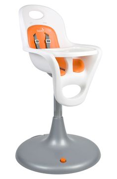 Baby Essentials: A sleek pedestal highchair is designed with no cracks or crevices for moldering crumbs, so it wipes clean no matter what your enthusiastic new eater throws at it. #Nordstrom