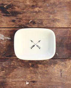 Great Plains Soap Dish -arrows