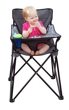 idea, portable high chair, camping, portabl high, picnics, babi, perfect, high chairs, kiddo
