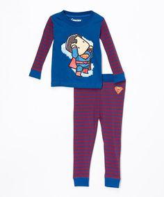 Blue & Red Superman Pajama Set 17$