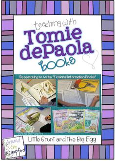 Teaching with Tomie dePaola Books Part 1: Little Grunt and the Big Egg.  The first in a series, this post has tons of ideas for teaching with Little Grunt and the Big Egg. tomi depaola, classroom, books, eggs, depaola book, blog seri, big egg, critical thinking, story maps
