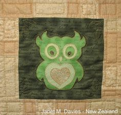 JMD Designs Home - Janet M. Davies - New Zealand - Janet's Owls - Needlework, Quilting and Applique
