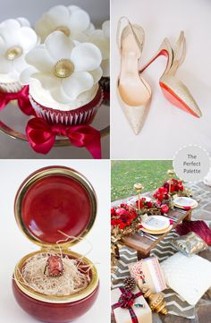 Wedding Colors | Red & Gold