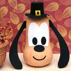 gourd, holiday, butternut squash, thanksgiving crafts, disney crafts, craft idea, pluto, pilgrim, kid