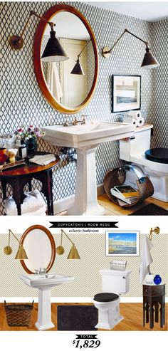 Oh, only one of my most favorite bathrooms of all time recreated for only $1,829. Thanks @lindseyboyer