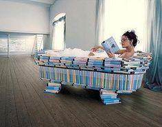 Letting books soak in