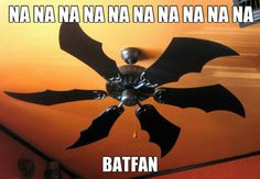 """The Batfan: straddling the line of """"holy shit that is awesome"""" and """"virgin alert""""."""