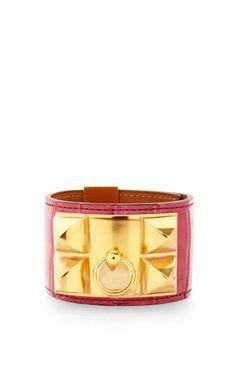 Hermes Alligator Collier De Chien Bracelet by Portero for Preorder on Moda Operandi